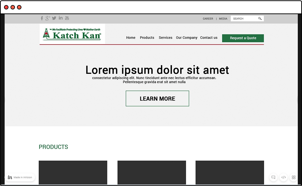 Website Wireframe Mockup KatchKan