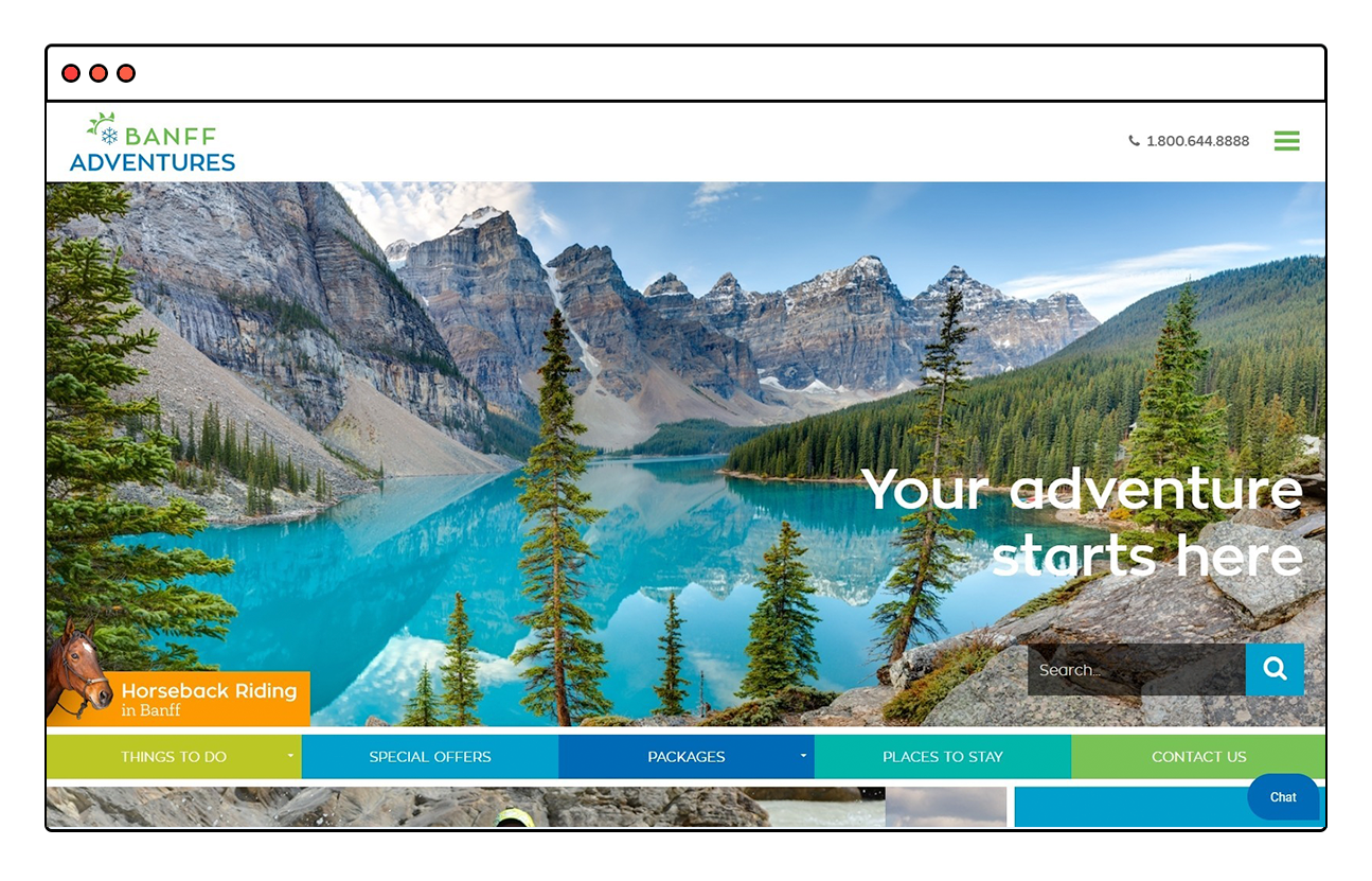 Banff Adventures Website Design