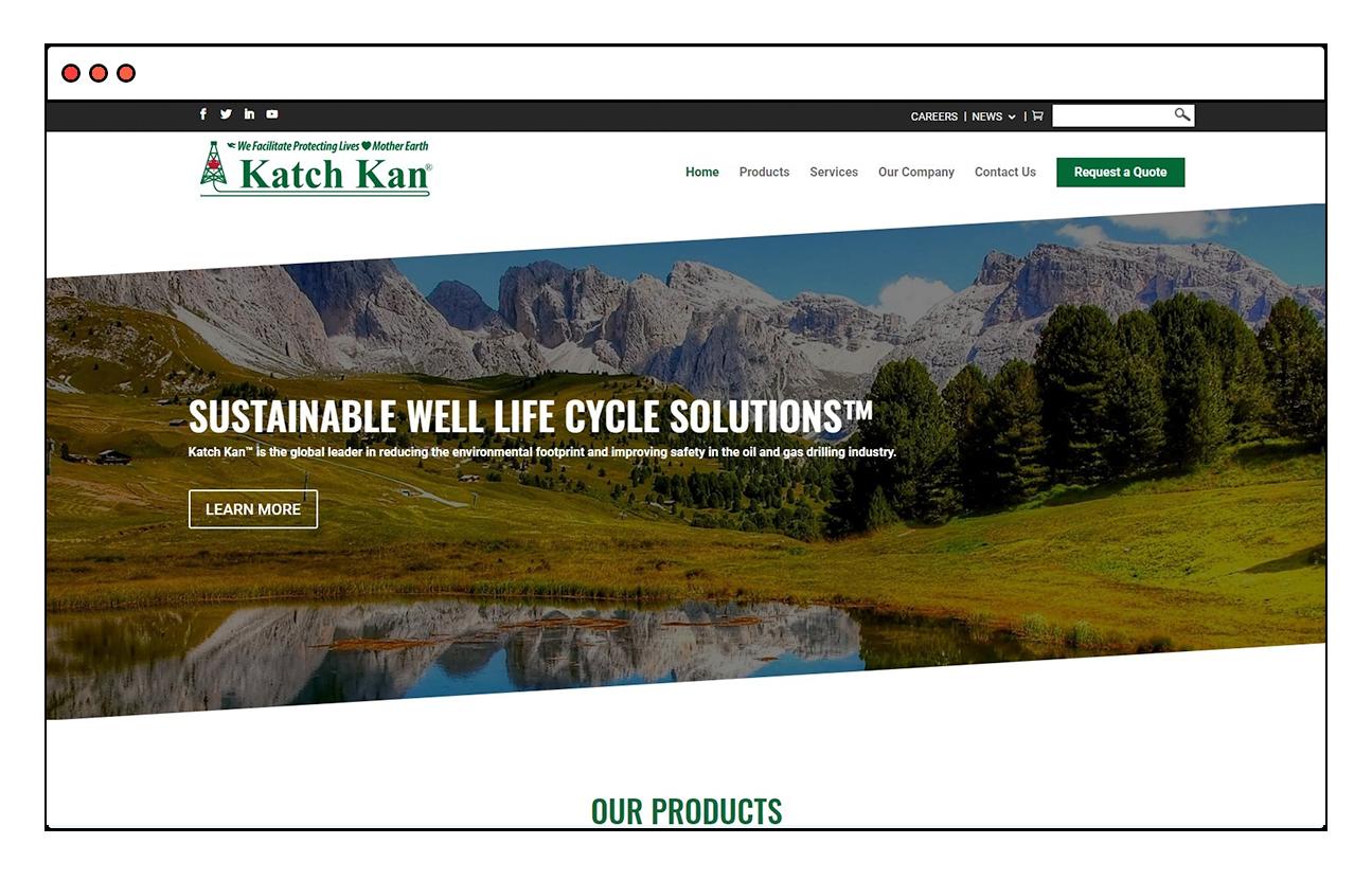 Katch Kan Website Design