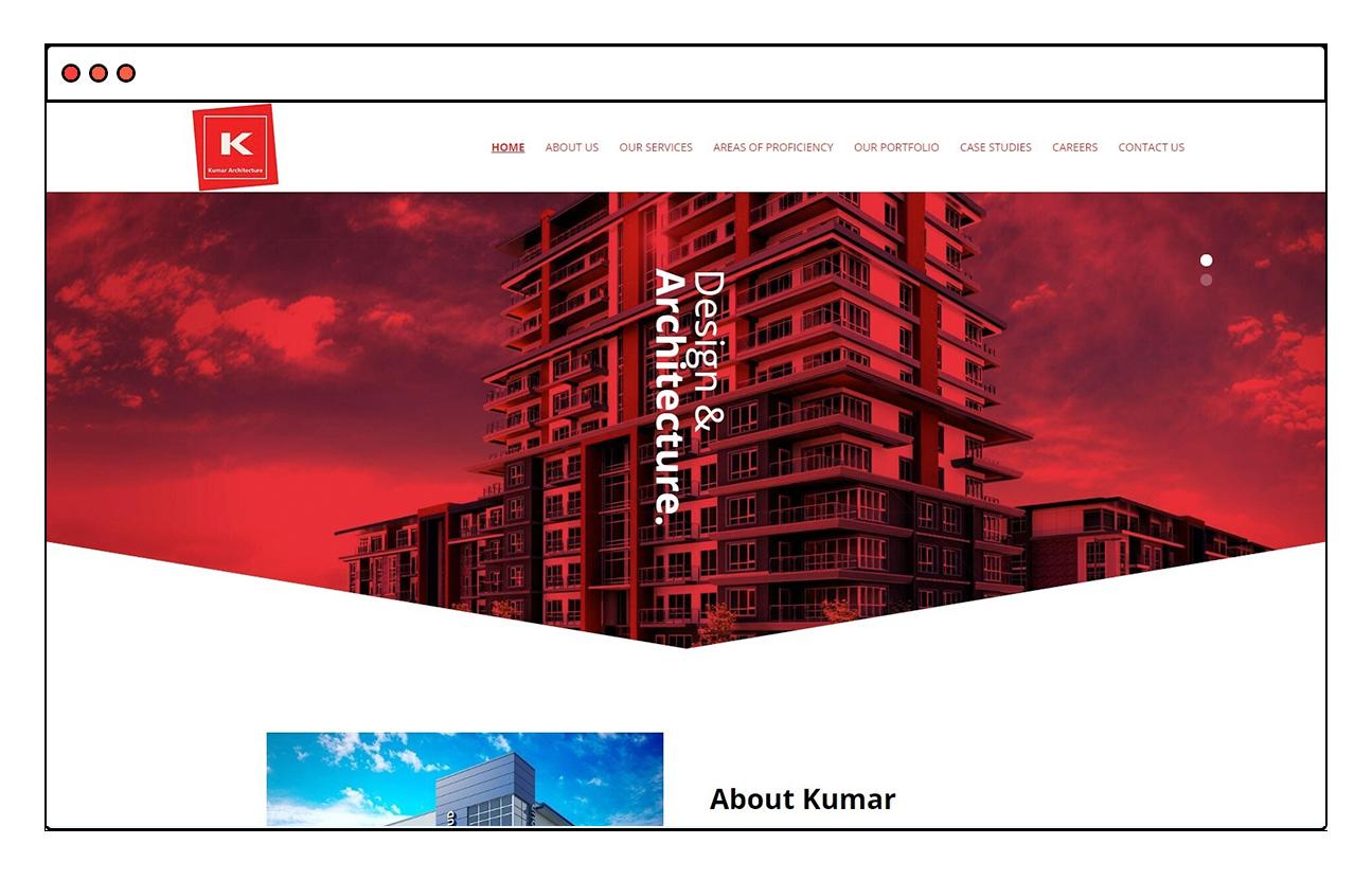 Kumar Architecture Website Design