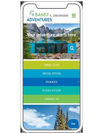 Mobile Browser Mockup BanffAdventures