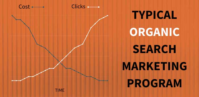 typical growth of organic search marketing
