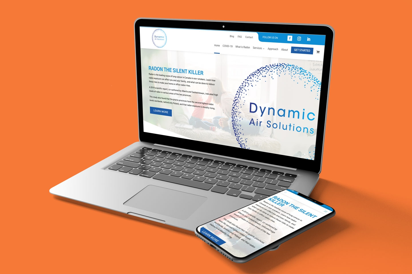 Dynamic Air Solutions Custom Wordpress, Divi Builder